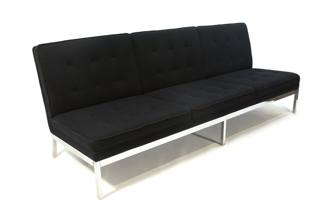 Three Seat Florence Knoll Armless Sofa