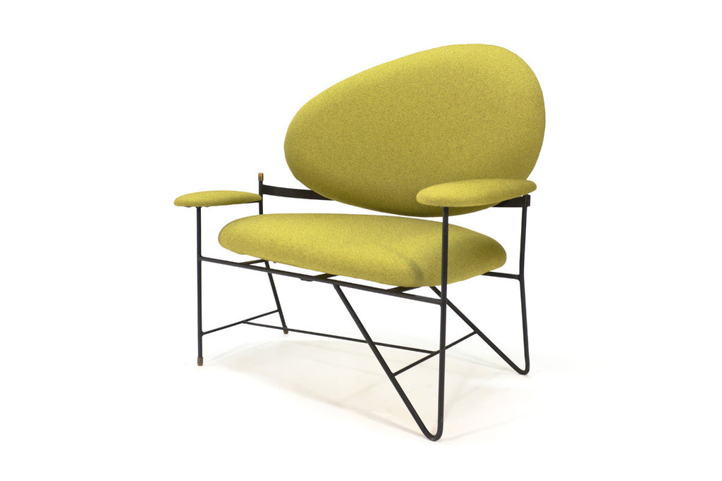 Modernist Asymmetric Iron Settee