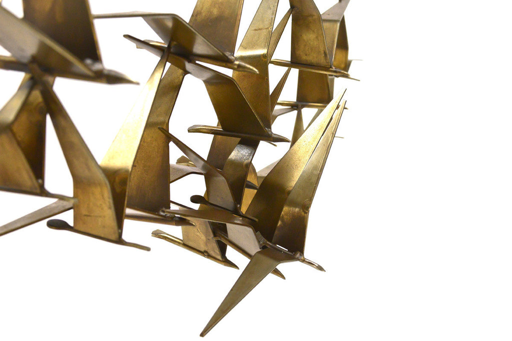 Curtis Jere Brass Birds in Flight Sculpture