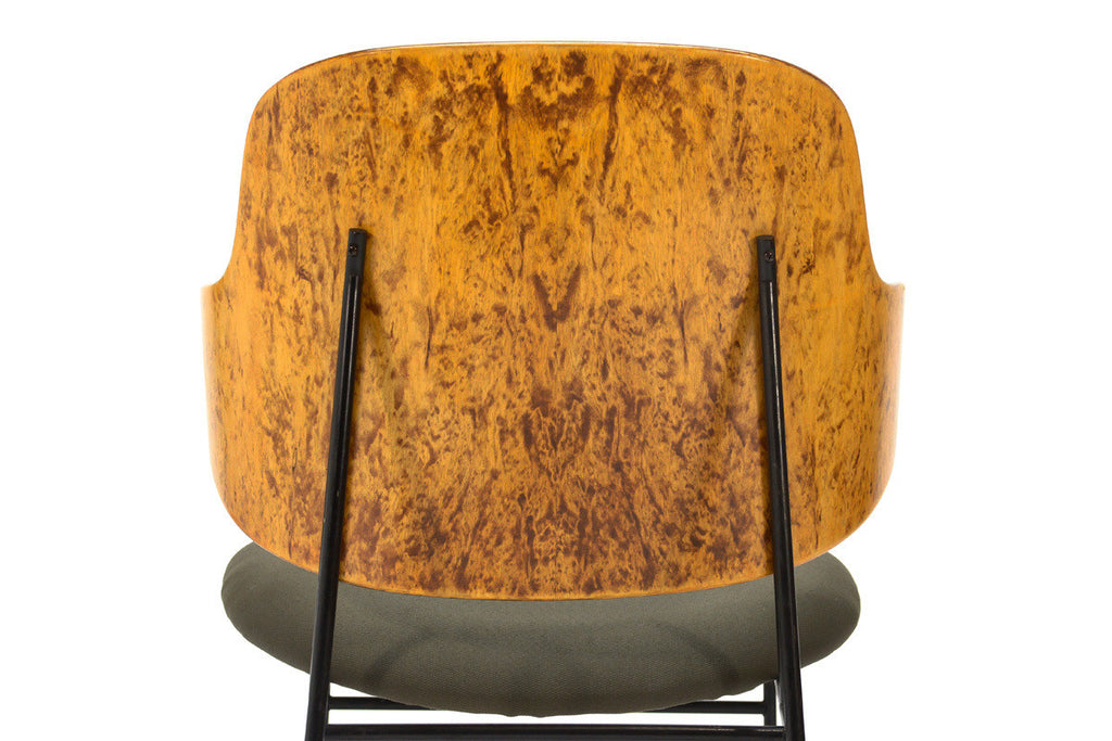Unique Burl Wood Kofod-Larsen Penguin Chair