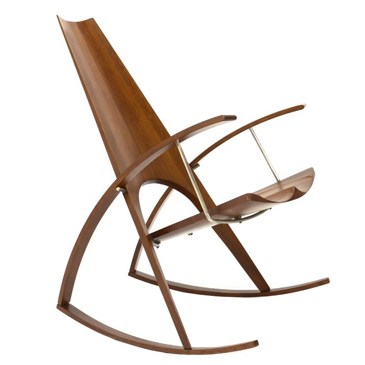 Studio Craft Rocking Chair by Leon Meyer - 1977