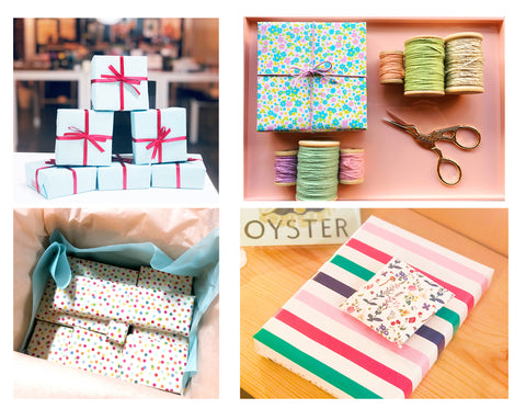variety of Complimentary gift wrap
