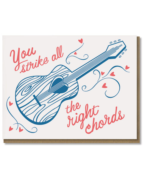 You Strike all the right chords music Love Card