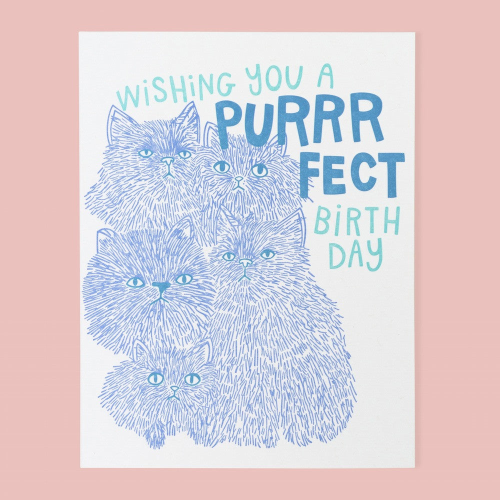 Purrfect Birthday Cat Card