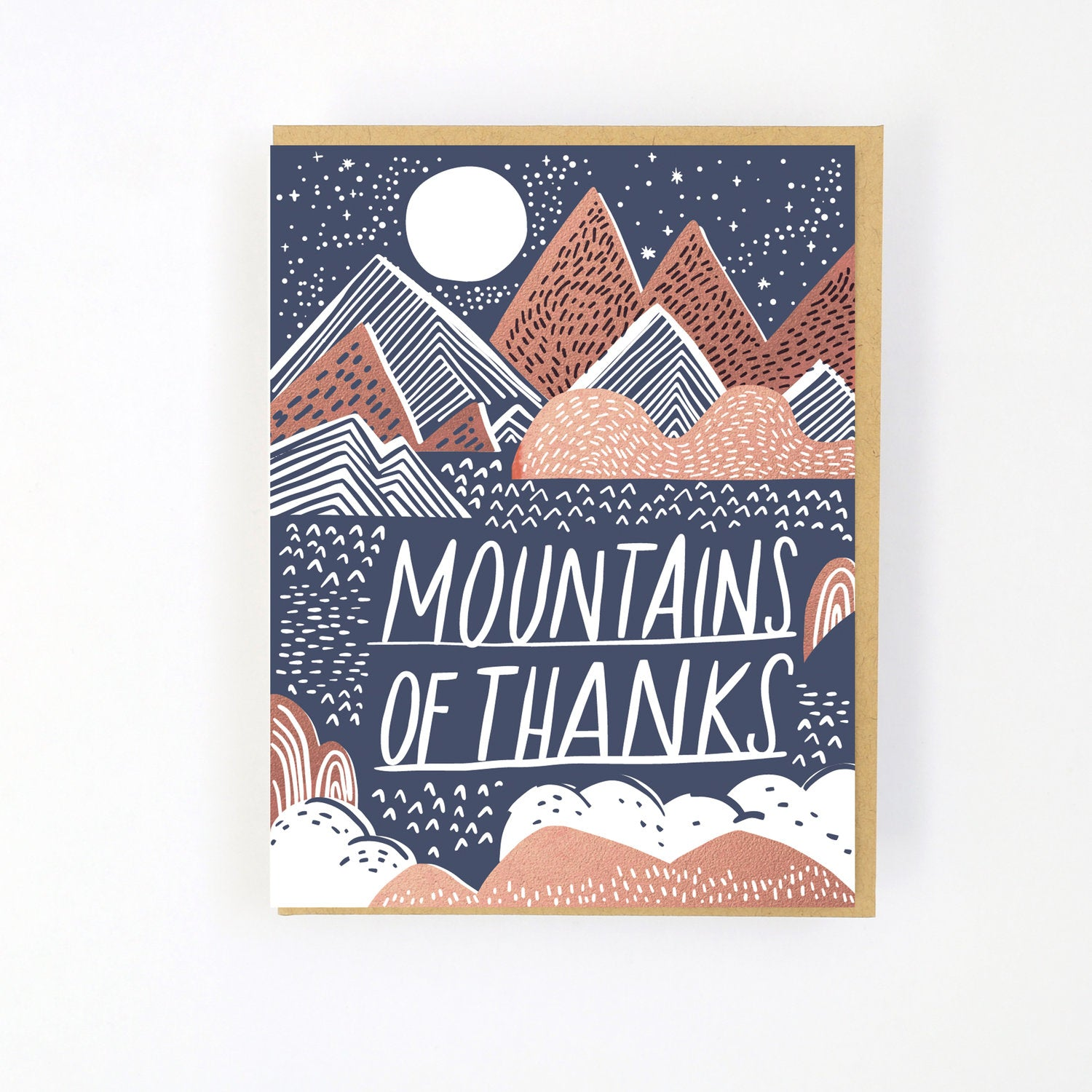 MOUNTAIN OF THANKS LETTERPRESS CARD