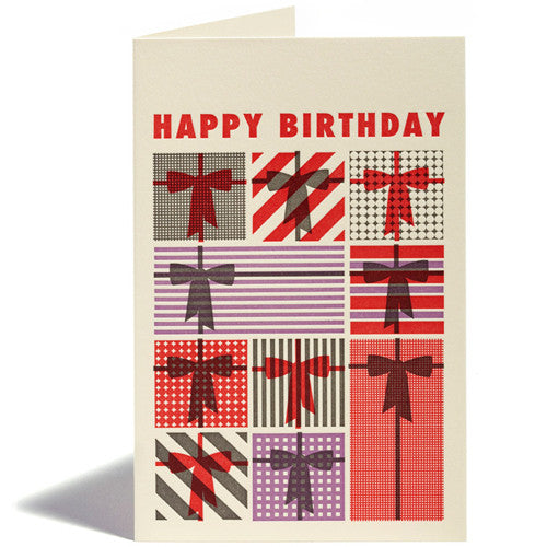 Letterpress Presents Birthday Card