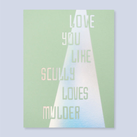 Scully and Mulder X Files Love Card