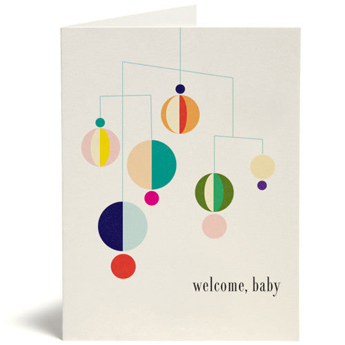 Modern Mobile Baby Card