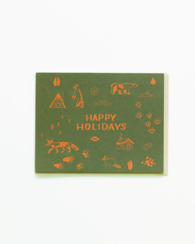 Happy Holidays Map Symbols Card