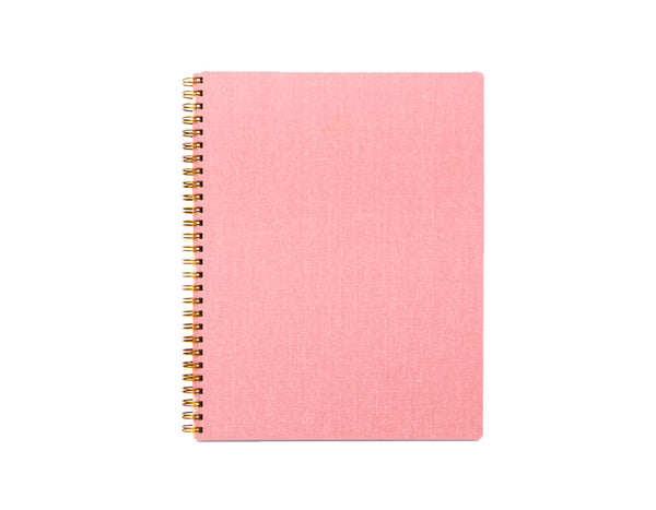 Appointed Lined Notebook in Blossom Pink