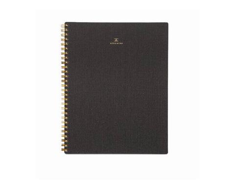 Appointed Lined Notebook in Charcoal Gray