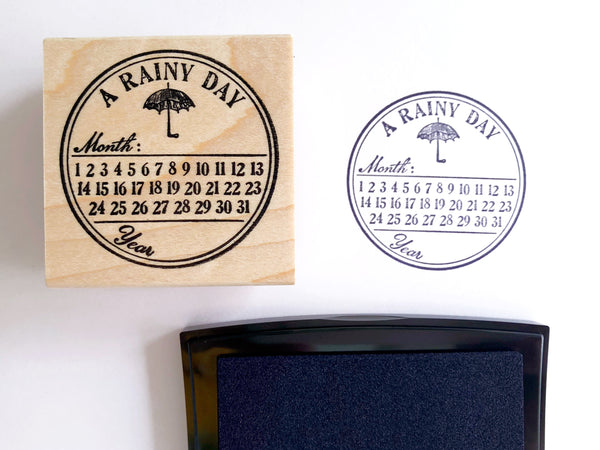 Day Calendar Rubber Stamp