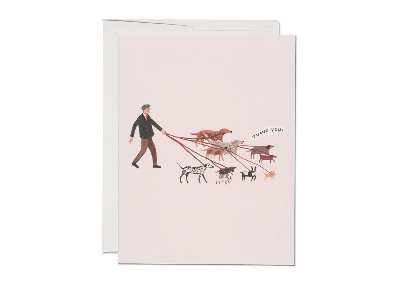 Dog Walker Illustrated Thank You Card