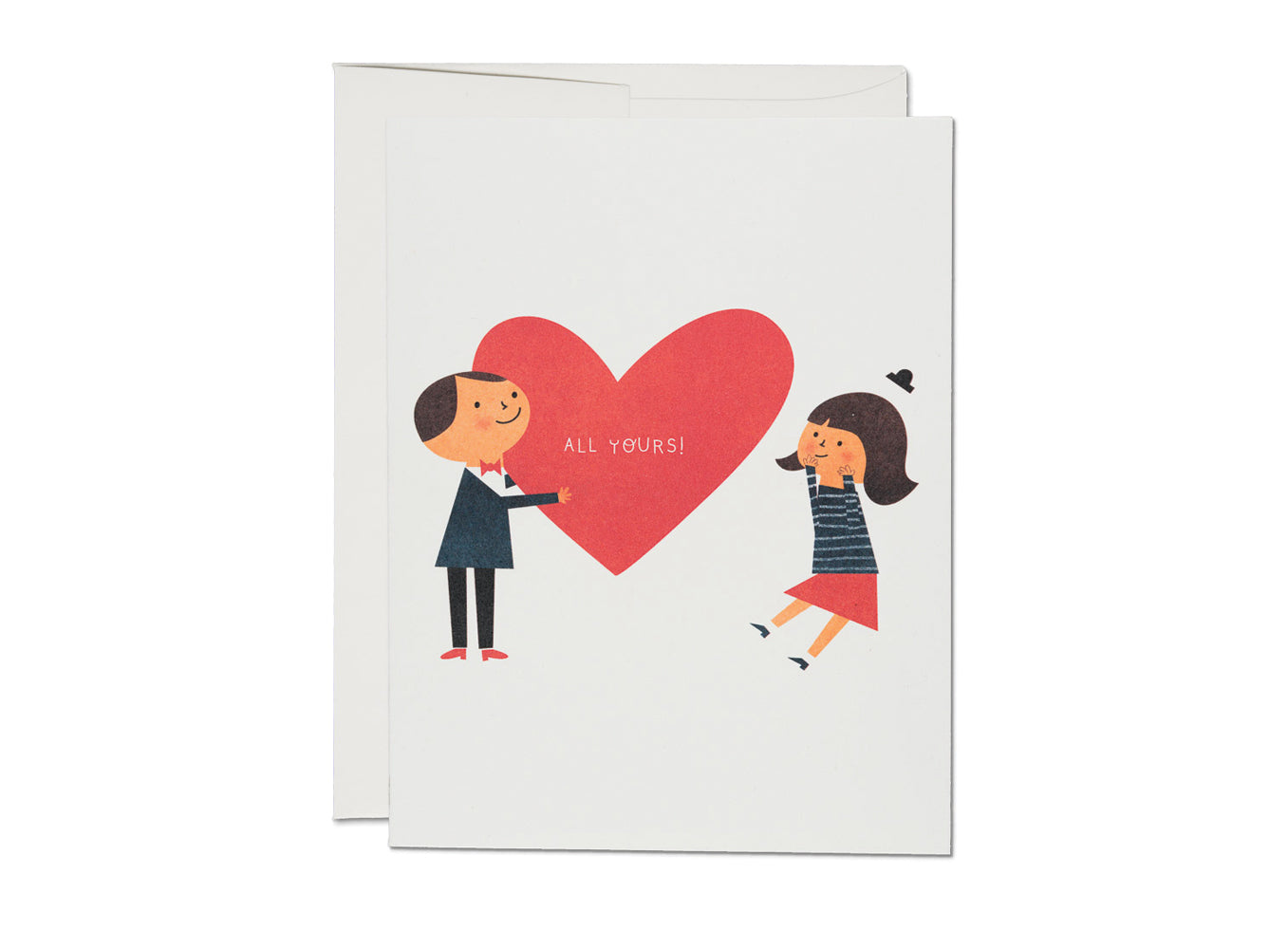 ALL YOURS BIG HEART LOVE Card