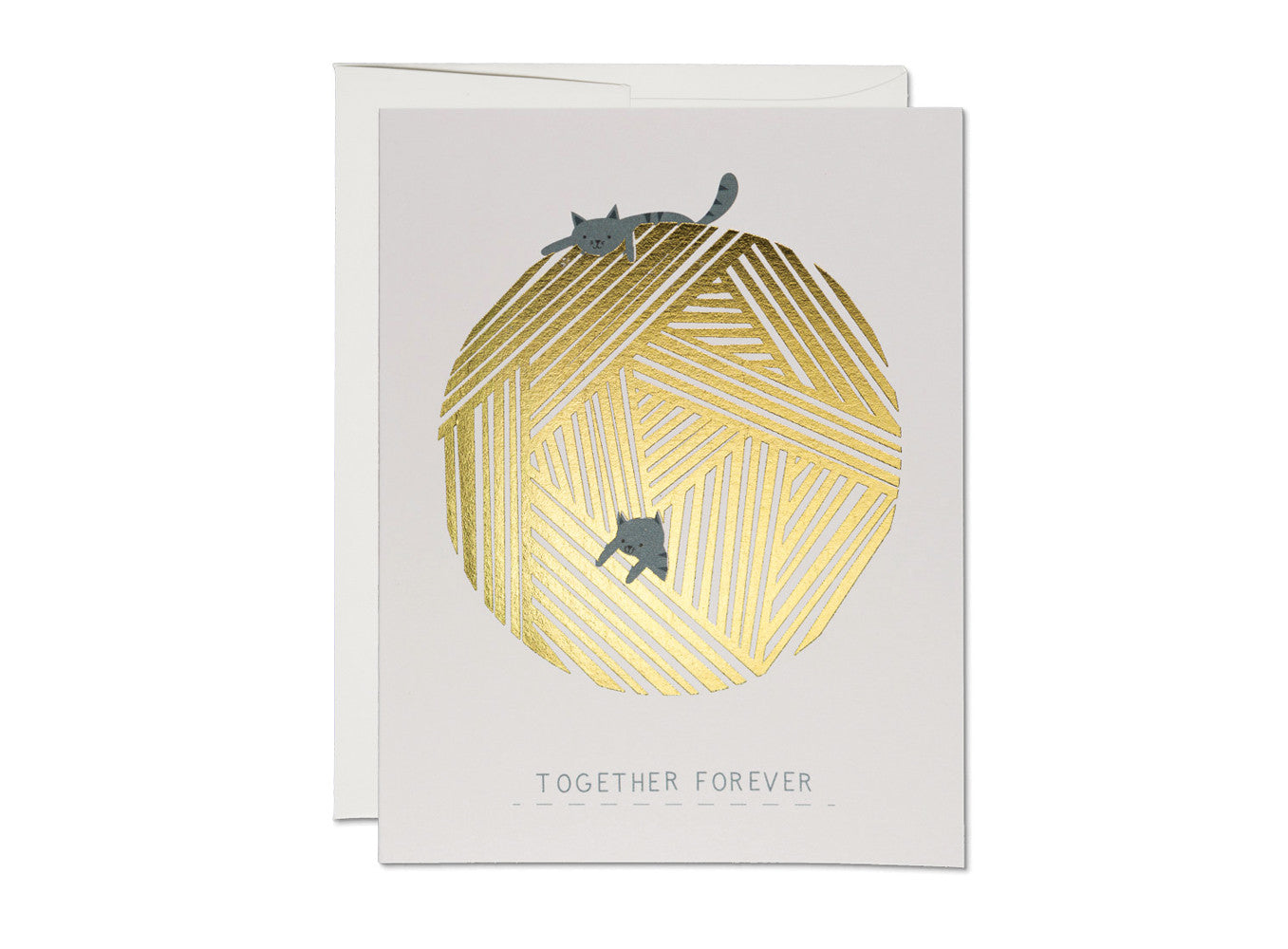 Together Forever Cat Anniversary Love Card