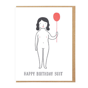 Happy Birthday Suit Letterpress Card