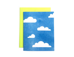 Clouds - Risograph Greeting Card