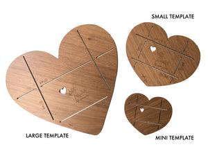 Wooden Heart Note + Envelope Template