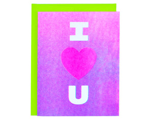 I heart you with purple gradient background