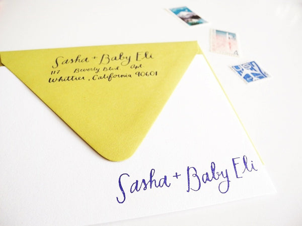 New Personalized Baby Stationery Set