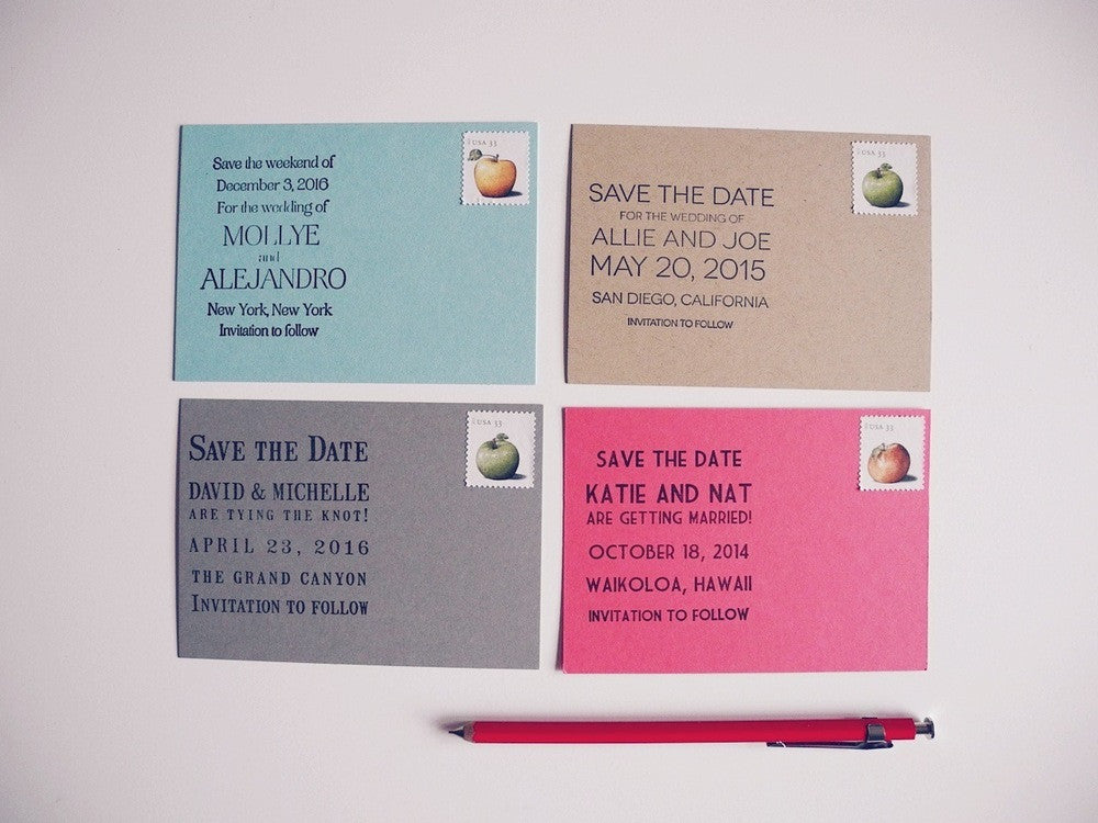 Custom Save The Date Stamp Paper Pastries