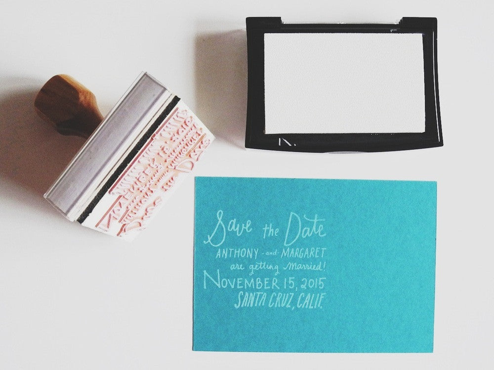 Custom Hand lettered Save The Date Stamp