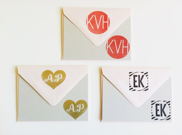 Custom Monogram Rubber Stamp