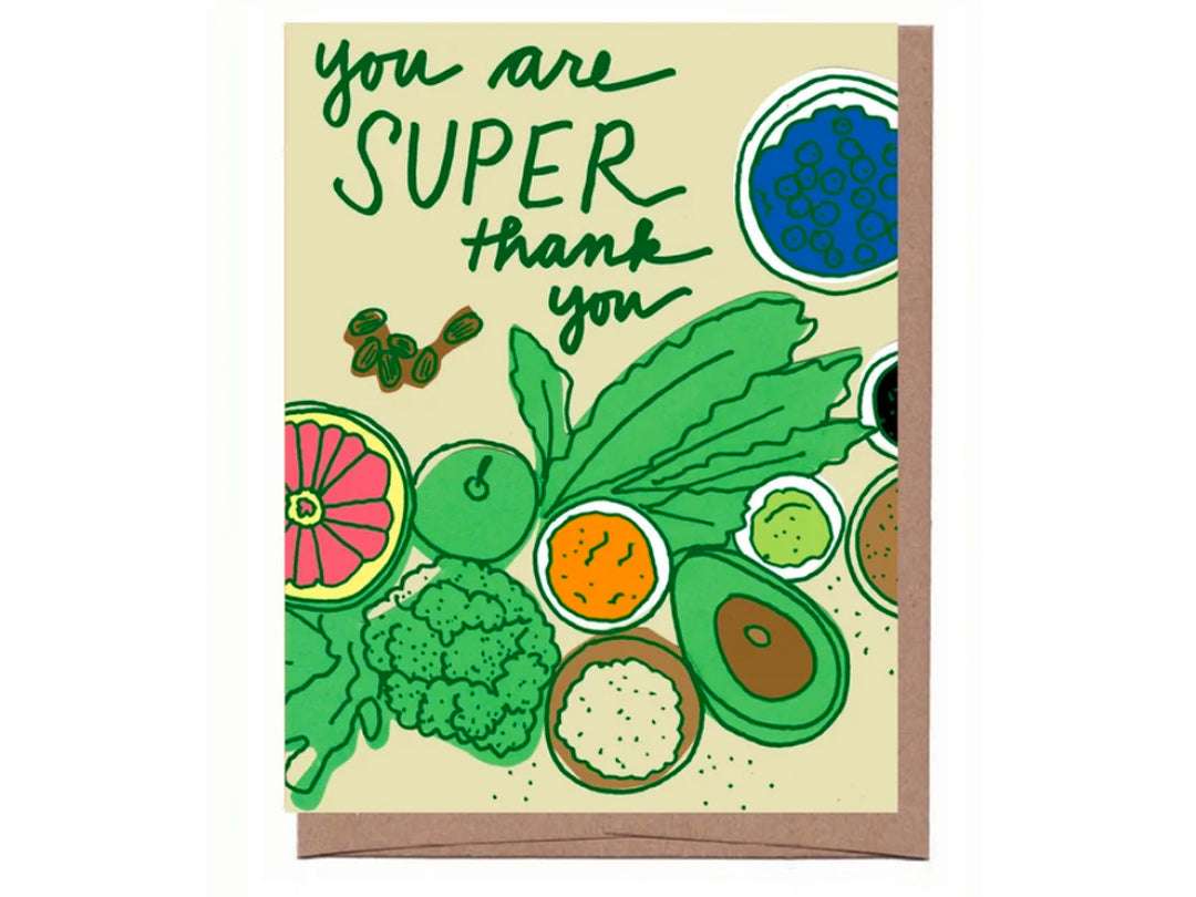 Superfood Thank You Note