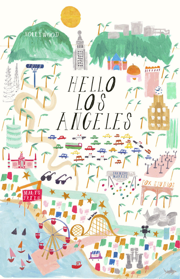 Hello Los Angeles Art Print