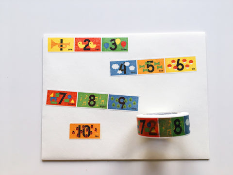 MT Washi Tape Numbers