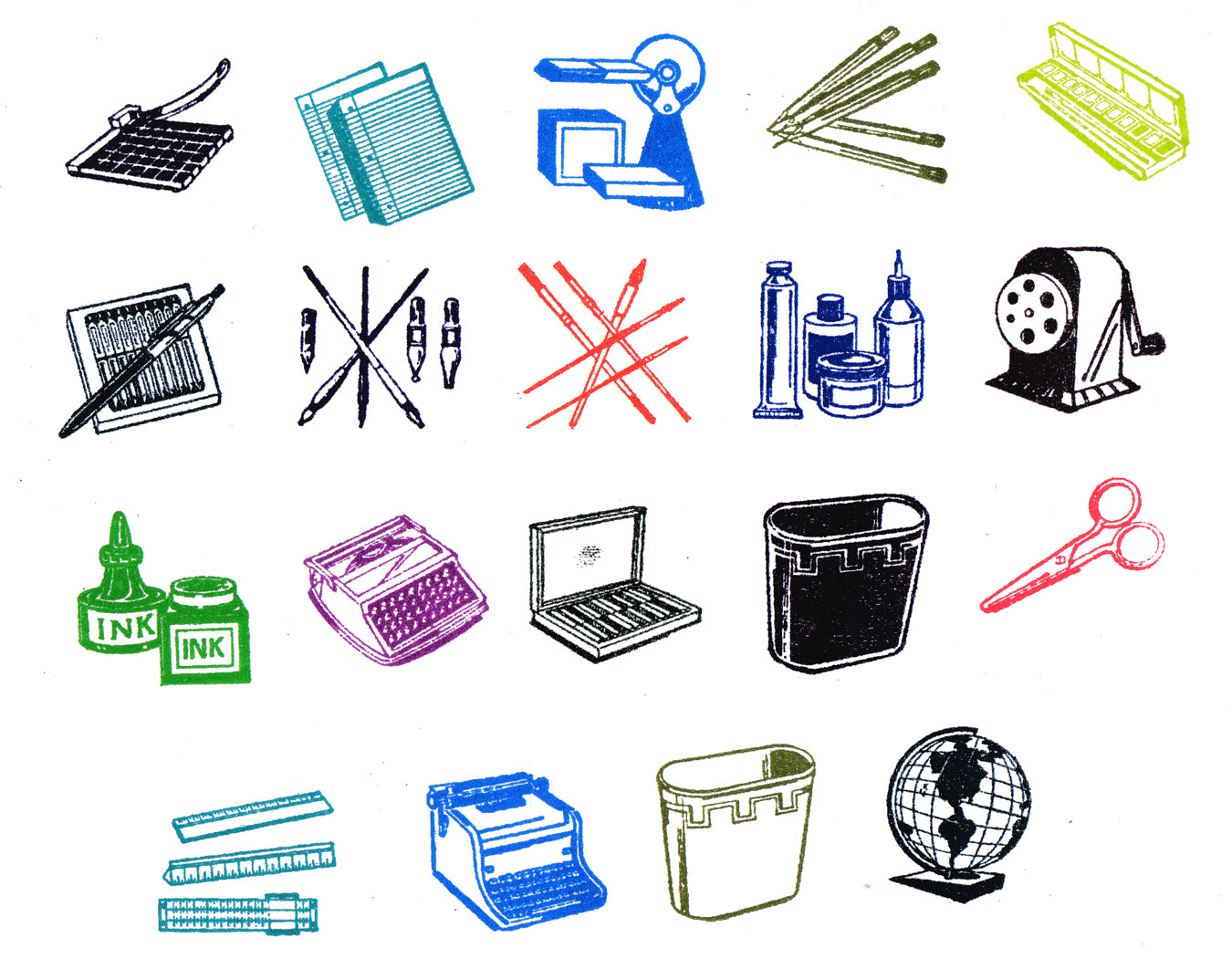 Mini Office Supply Stationery Supply Rubber Stamps