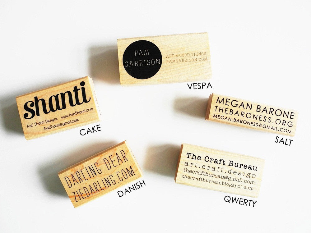 Custom business card stamp – Paper Pastries