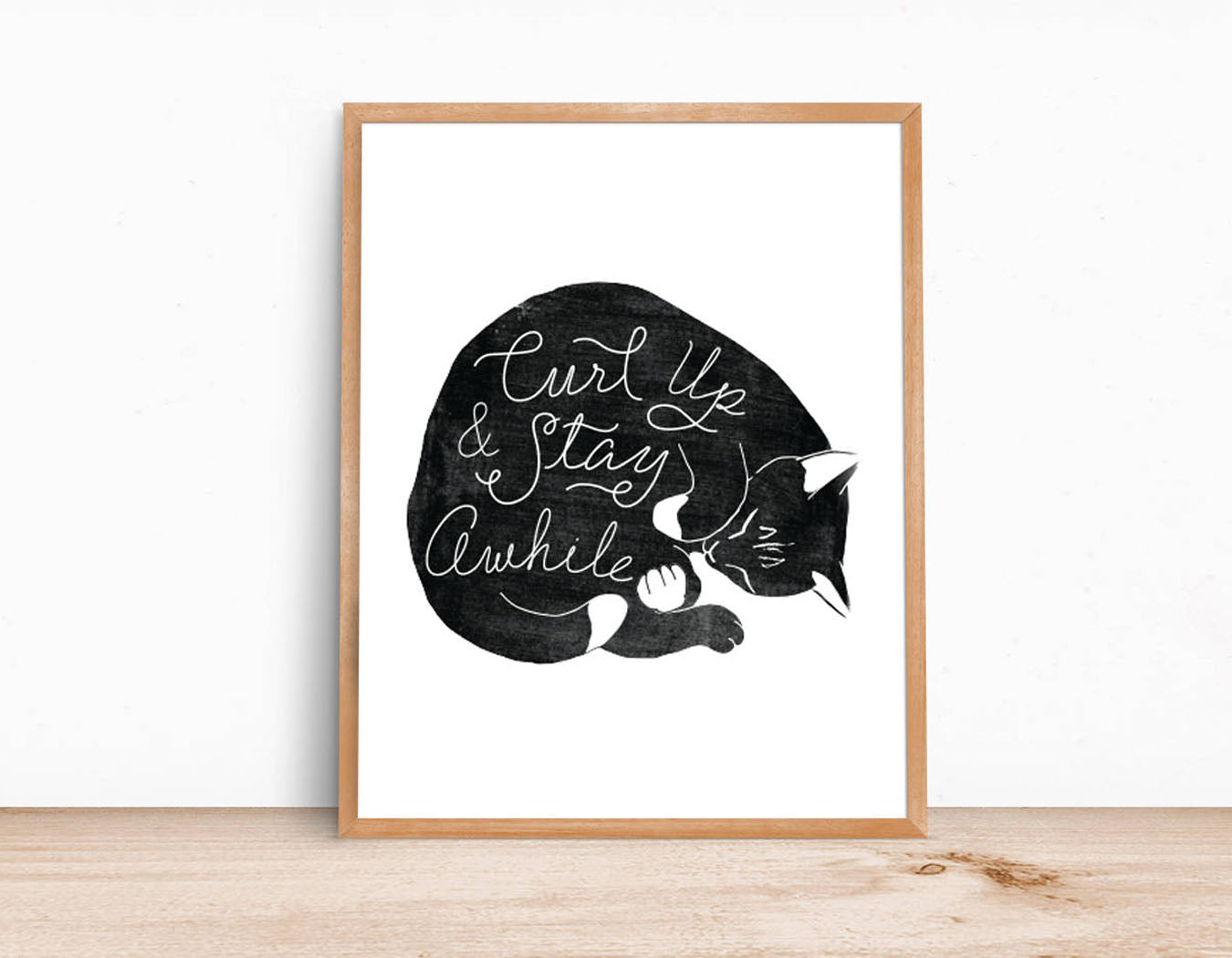 CURL UP & STAY AWHILE PRINT