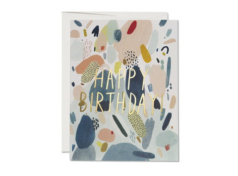 Abstract Birthday Foil Card single or box set