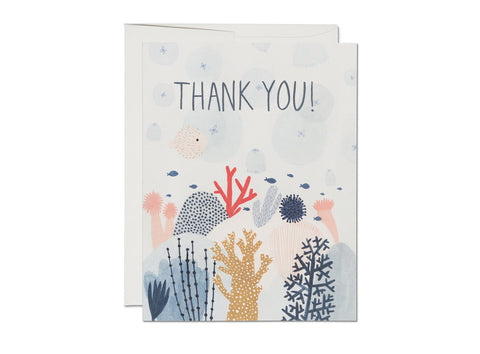 Coral Reef Thank You Card Box Set of 8