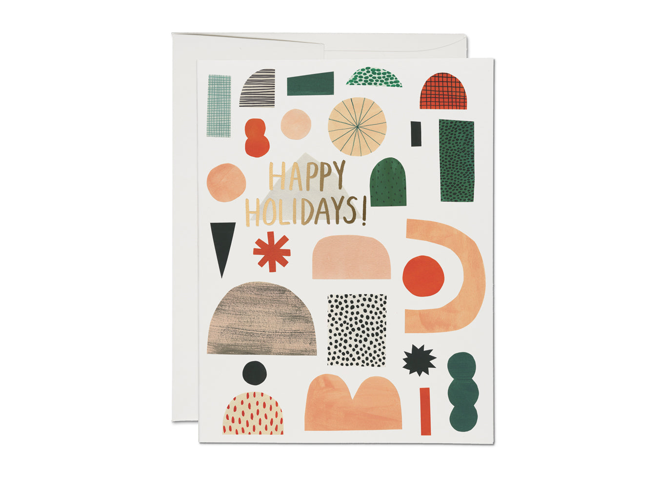 Abstract Happy Holidays Card Set of 8