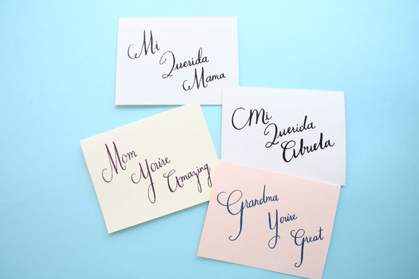 Cards for mom, grandma, mama, y abuela