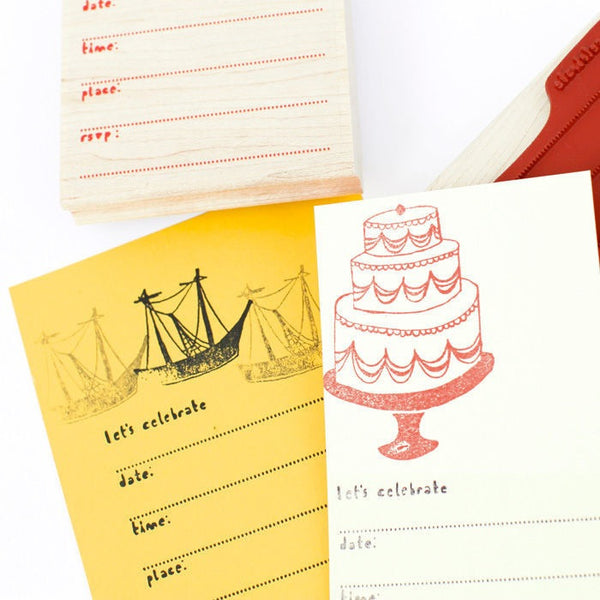 Party Invitation Stamp