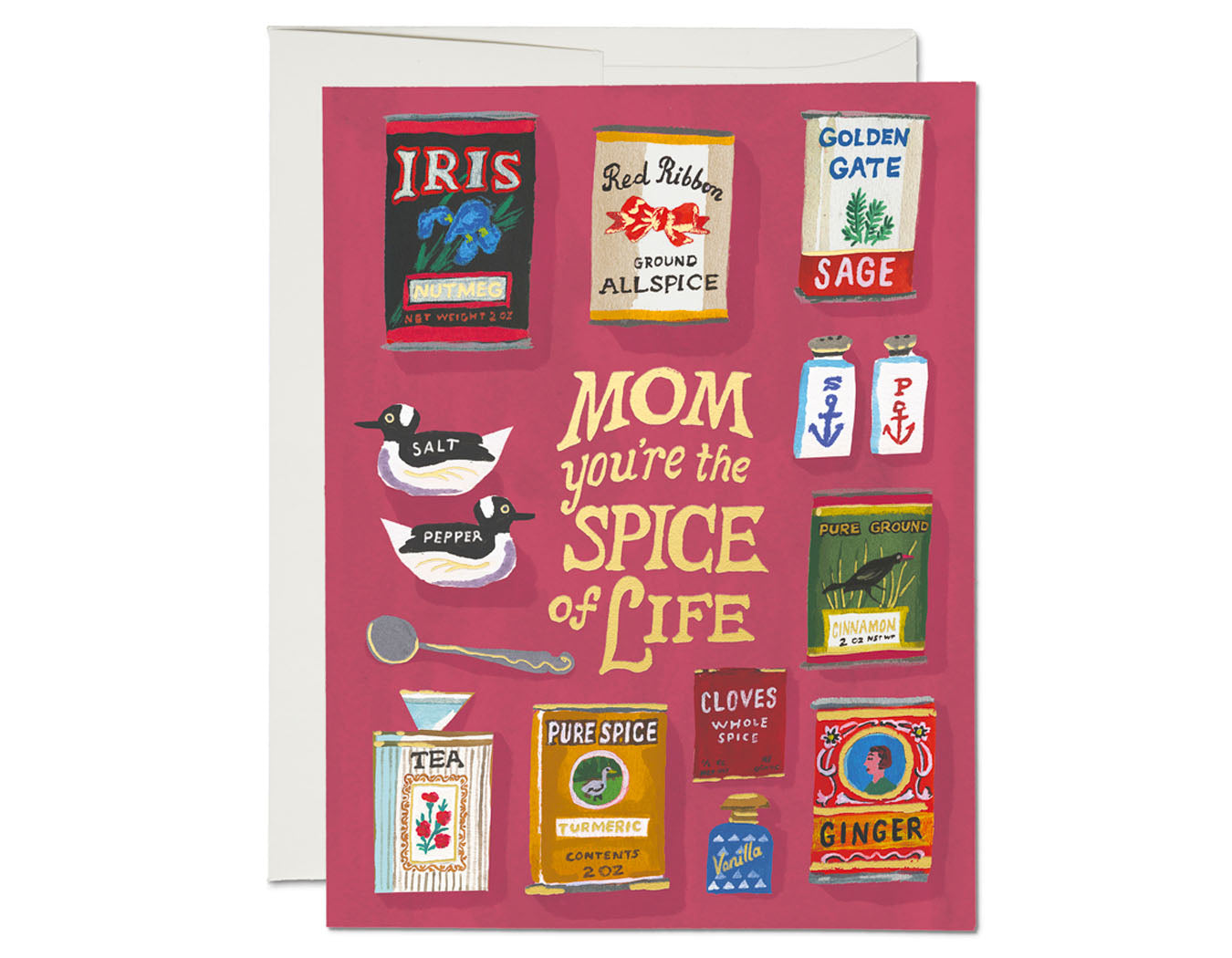 illustrated spices text reads mom you're the spice of life