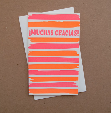 brush gracias // Spanish thank you card