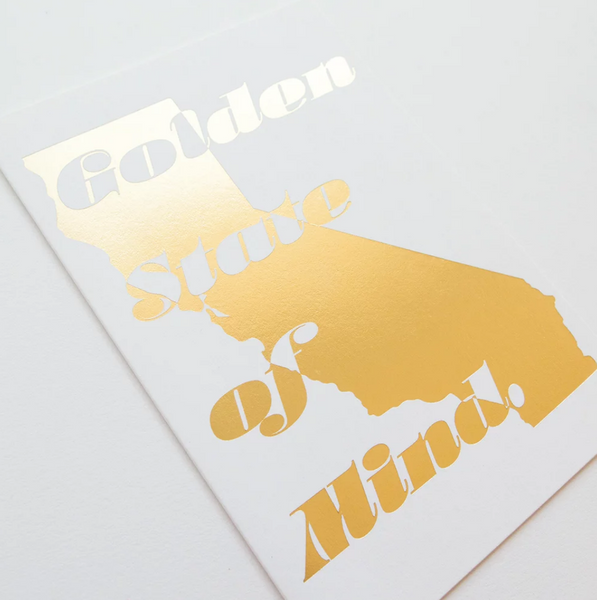 Golden state California love gold foil card