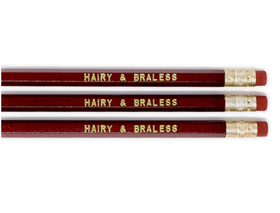Pencil Set – Hairy & Braless