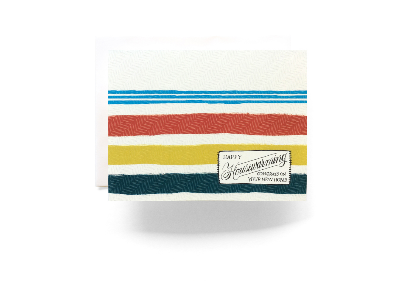 CAMP Pendleton BLANKET HOUSEWARMING GREETING CARD