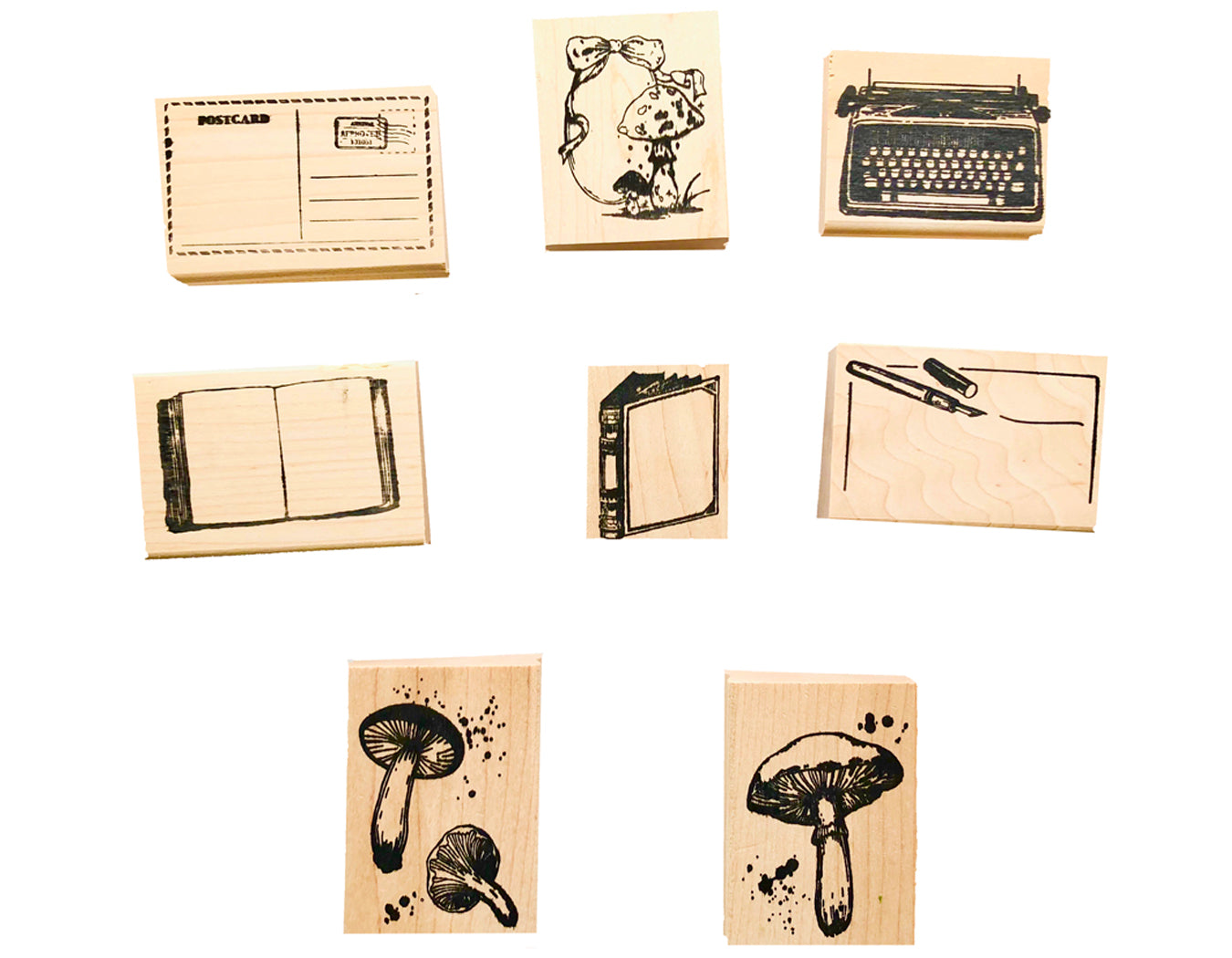 Letter writing rubber stamps