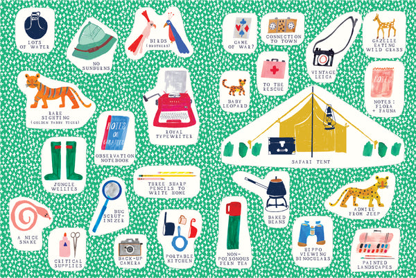 STICKER BOOKLETTE - THE SAFARI SET