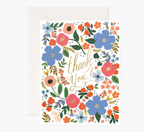 Wild Rose Thank You Card Box Set