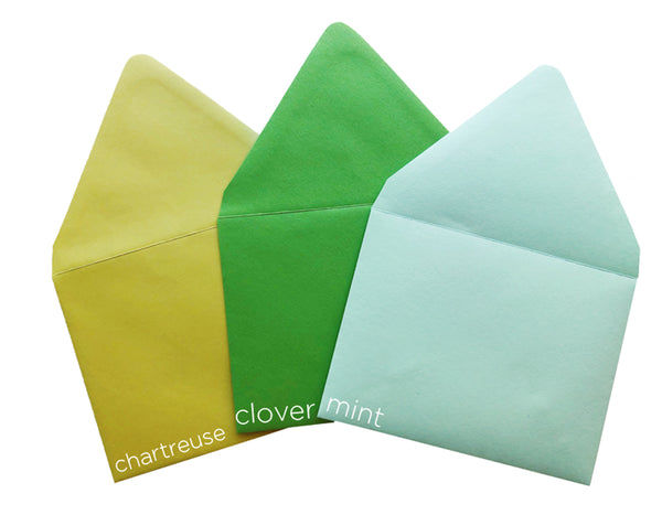 Colorful A2 envelopes 10 pack