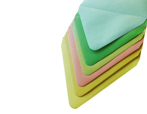 Our a2 colorful blank envelopes are the perfect canvas for your creations!