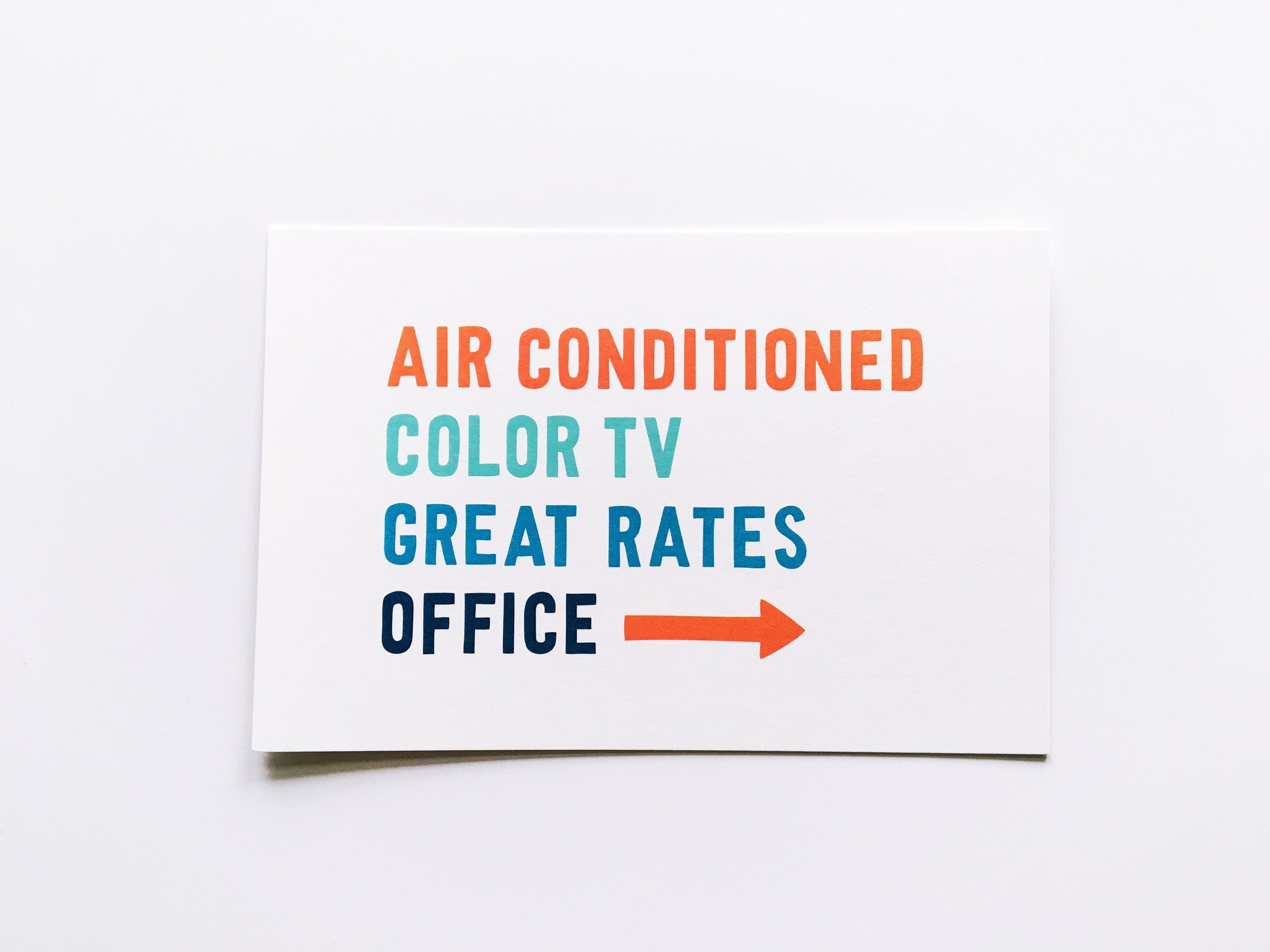 Color TV Card Vacation Card