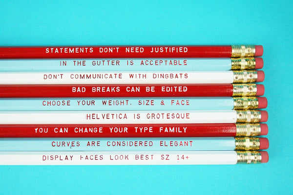 Reasons to love type pencil set